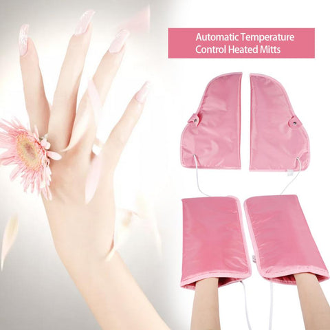 1 Pair Electrict Nail Manicure Gloves Heated Mitts For Paraffin Waxing Therapy SPA Hand Skin Care Heated Wax Mittens Nail Tools - ZURBEXPRESS