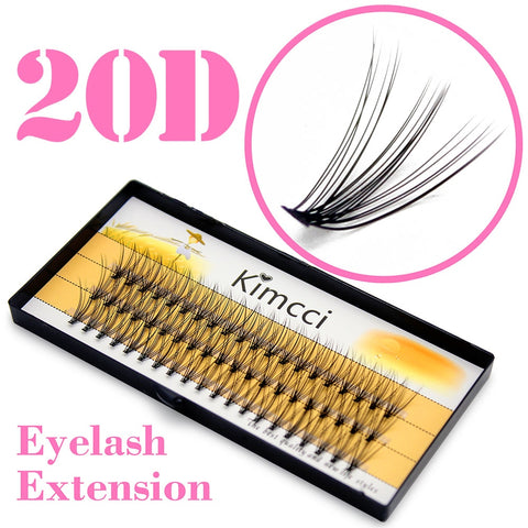 Kimcci Professional 0.07C 20D Individual Eyelash Extension Makeup Grafting Cluser Eyelashes Natural Soft False Eye Lashes Cilia - ZURBEXPRESS