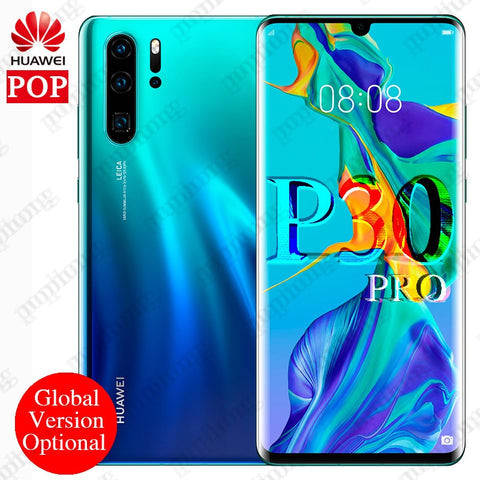 Global version optional Huawei P30 Pro Mobile Phone 6.47'' Full Screen OLED Kirin 980 Smartphone NFC GPS Android 9.1 5 Cameras - ZURBEXPRESS