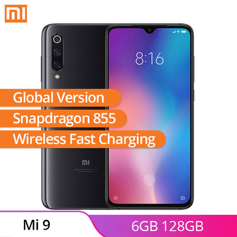 Global Version Xiaomi Mi 9 Mi9 6GB 128GB Smartphone 6.39'' AMOLED Screen Snapdragon 855 Octa Core 48MP Triple Camera Cell Phone - ZURBEXPRESS