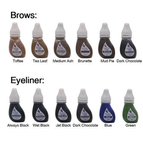 1PCS Original USA Biotouch Pigment Get Pure Confidence Pure Micropigment Permanent Makeup Tattoo Inks Eyebrow Eyeliner Lip - ZURBEXPRESS