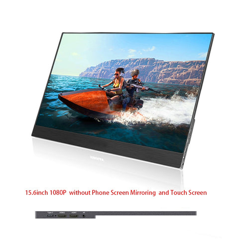 15.6 inch 1080P portable LCD monitor 5mm ultra slim LCD display for Mac/PC/smart phone/PS4 Pro/XBOXONE - ZURBEXPRESS