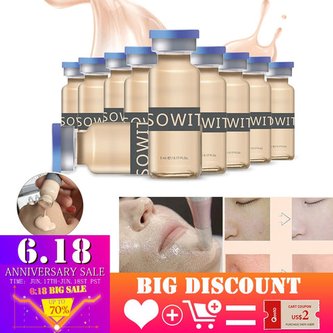 BB Glow Cream Serum 5ml Whitening Cream Meso Brightening Serum BB Cream foundation Beauty Wrinkle Acne Whitening Cosmetic liquid - ZURBEXPRESS