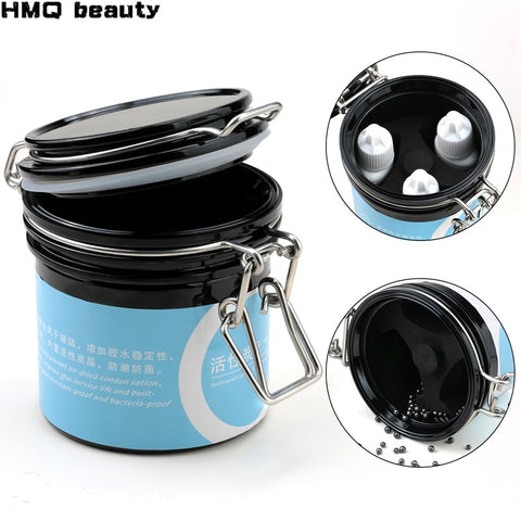 New Eyelash Glue Storage Tank Container Activated Carbon Storage Sealed Storage Jar For Eyelash Extension Makeup Tools