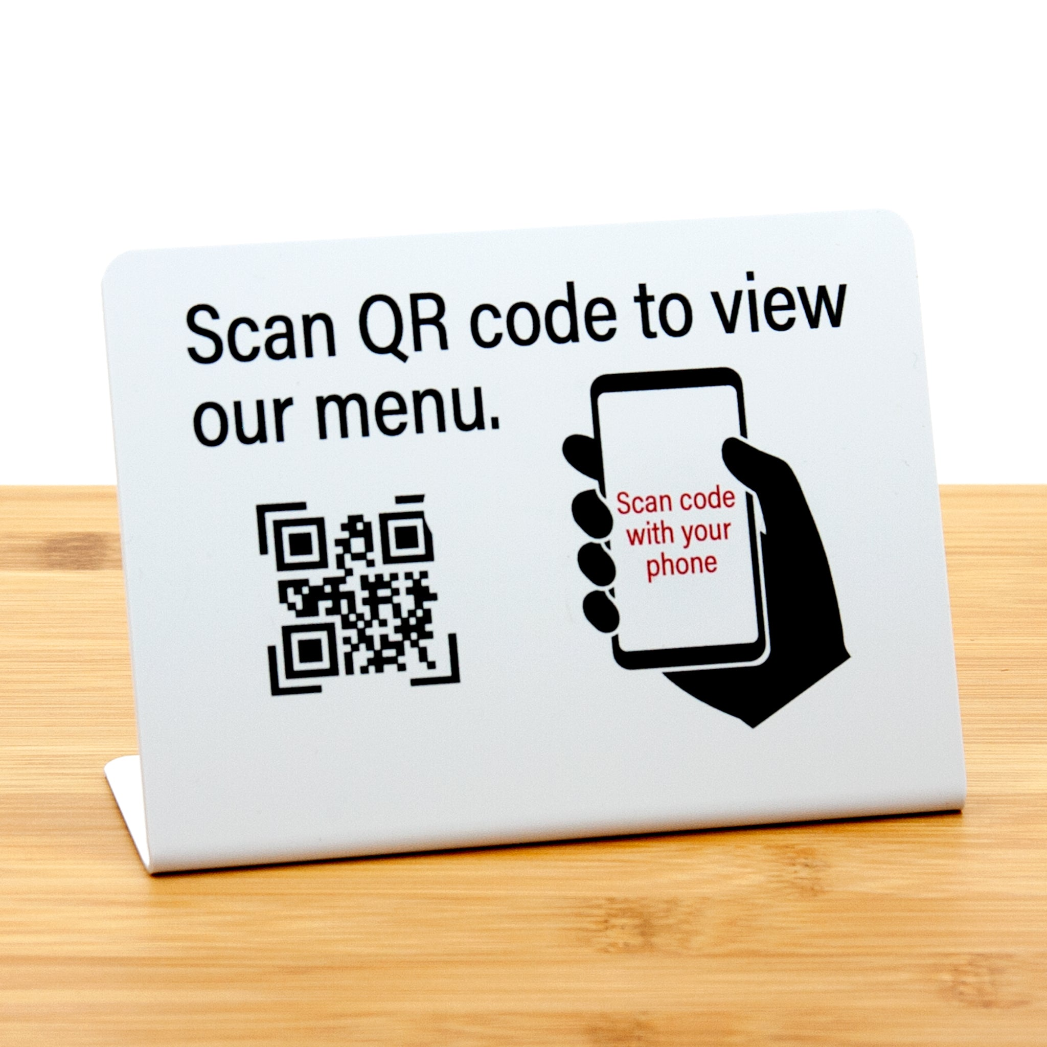 Qr Code Restaurant Menu Signs L Style Specialty Sign Store