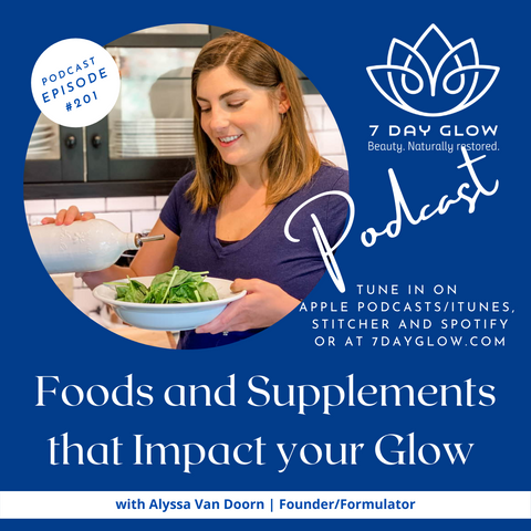7 Day Glow Podcast Foods and Supplements that Impact you Glow