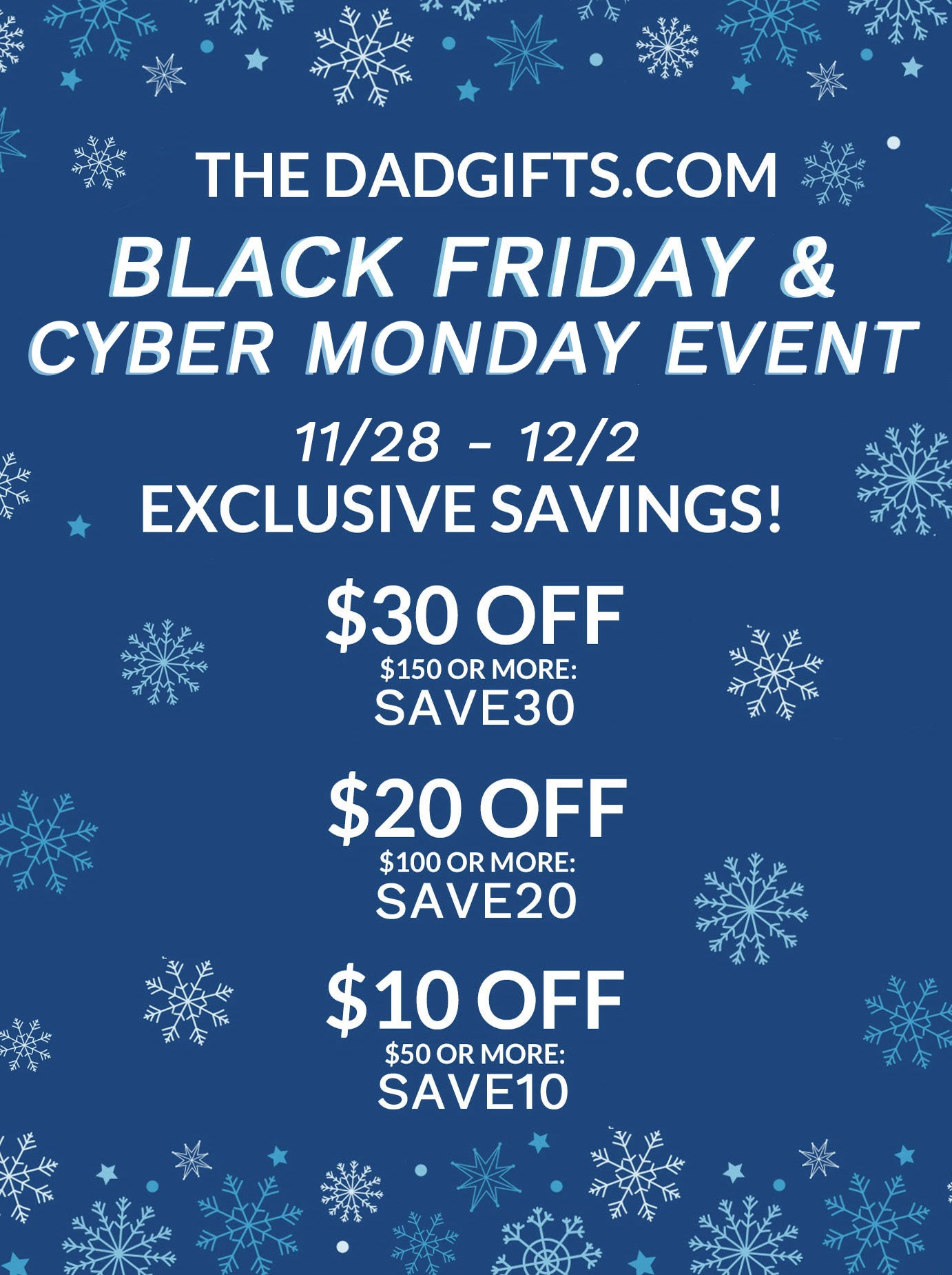 Black Friday + Cyber Week Deals!