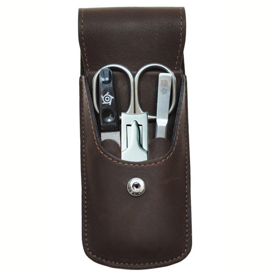 Bison Leather 4 Piece Nail Kit