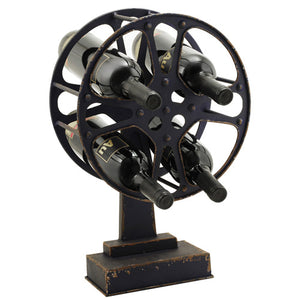 Movie Reel Wine Rack