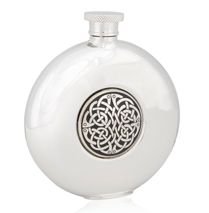Round Celtic Stainless Steel Flask