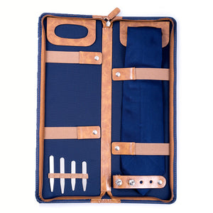 Navy Blue Travel Tie Case
