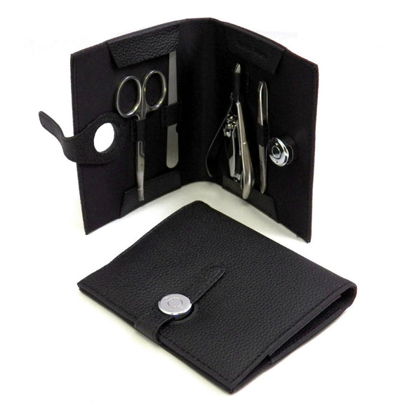 Black Leather Manicure Kit