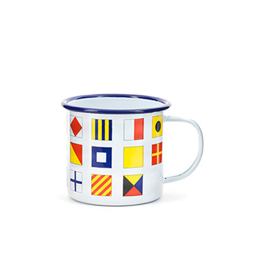Nautical Flags Enamel Cup