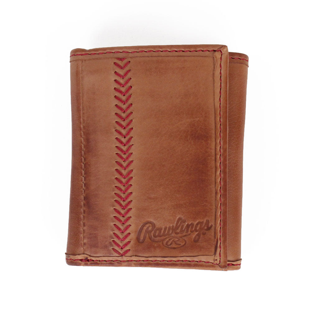 Baseball Stitch Trifold Wallet