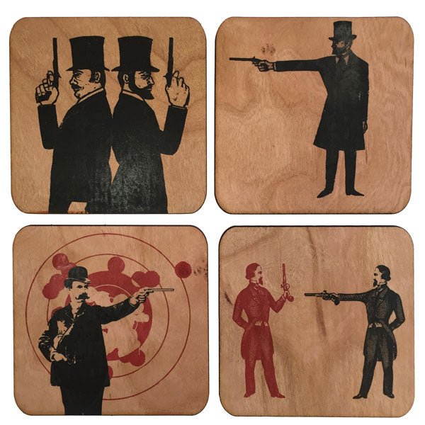 Dueling Pistols Coaster Box Set