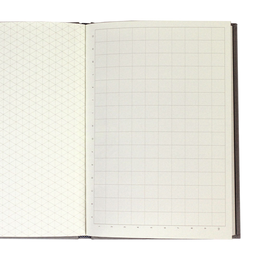 Grids & Guides: A Notebook for Visual Thinkers (Gray)