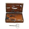 Tan Leather Manicure Set
