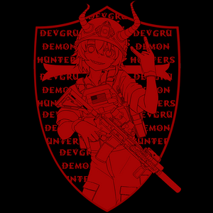 DEVGRU DEMON HUNTER RED ONI (back print)