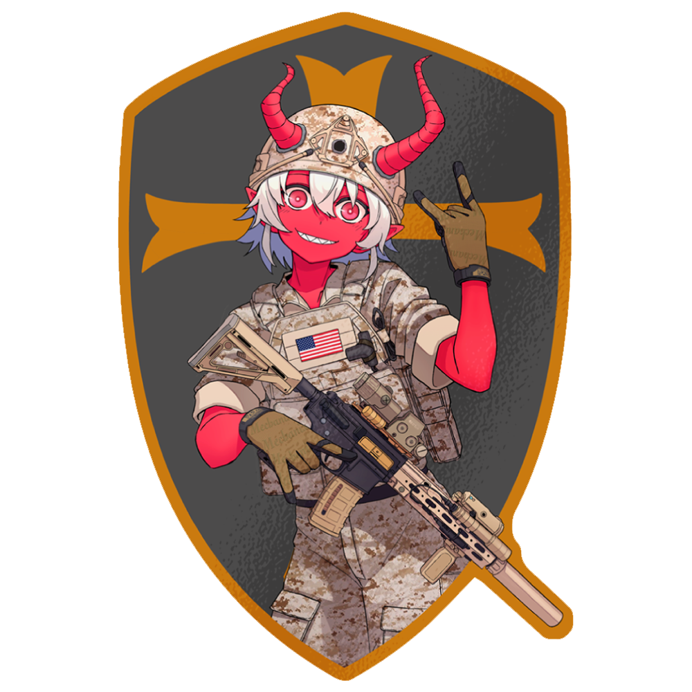 DEVGRU Oni Die-Cut Sticker GOLD