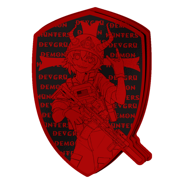 DEVGRU Oni Die-Cut Sticker RED