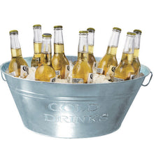 GALVANISED STEEL DRINKS COOLER BUCKET