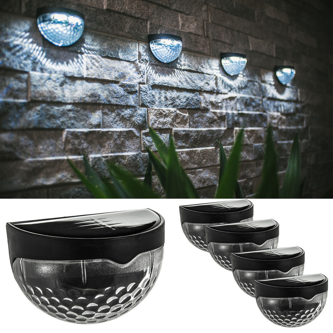 4PC 6 LED SOLAR FENCE LIGHT