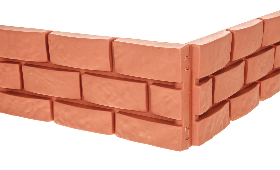 4PK BRICK EFFECT GARDEN EDGING TERRACOTTA