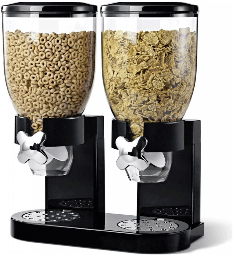 TWIN CEREAL DISPENSER BLACK