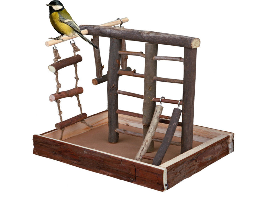 SMALL WOODEN BIRD PLAYGROUND
