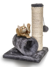 KITTEN TREE SCRATCH POST AND TUNNEL