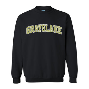 Grayslake Black Crewneck