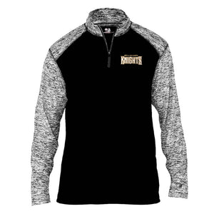 Black and Gray 1/4-Zip Pullover