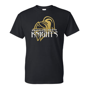 Knight Head Black T-shirt