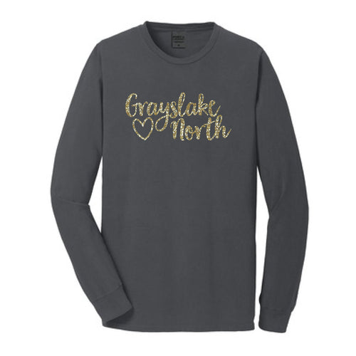 Coal L/S Tee with GN & Heart