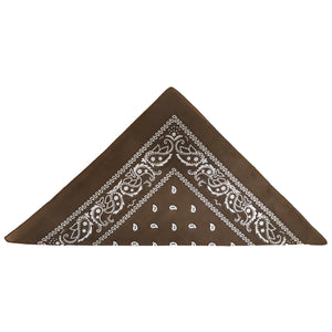 Brown Paisley Bandanas