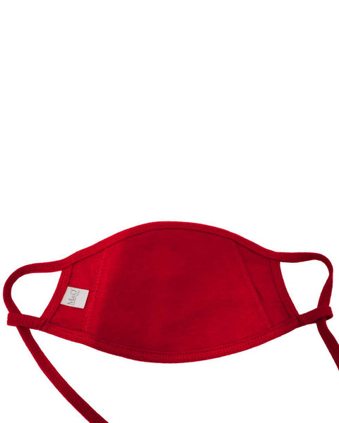 100% Cotton Antimicrobial Triple Layer Adjustable Mask - Red