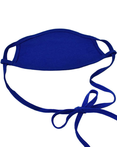 100% Cotton Antimicrobial Triple Layer Adjustable Mask - Blue