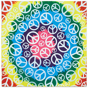 Peaceful Rainbow Print Bandana