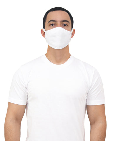 Gildan Cotton Everyday Mask - Adult, White