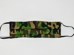 Canadian Made Cotton Mask - Adult, Green Camouflage