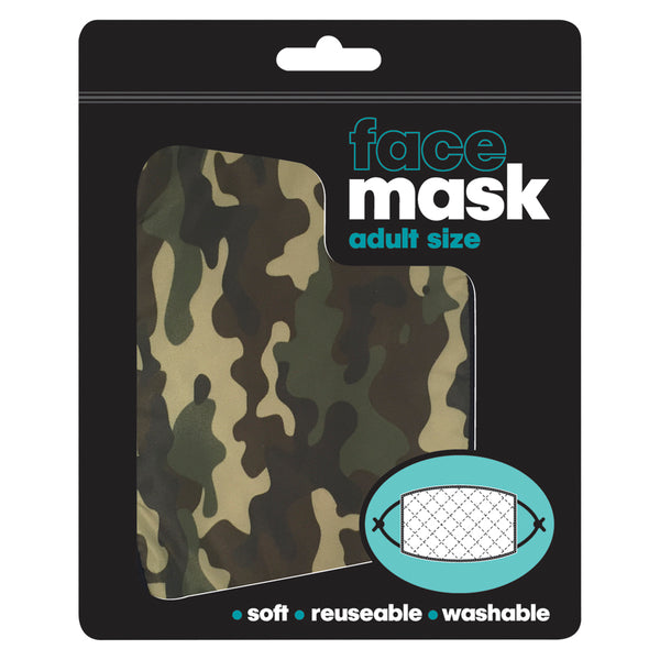 Green Camouflage Adjustable Face Mask