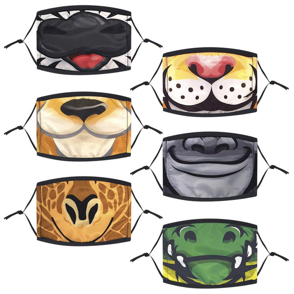 Zoo Animals Face Mask, Child (Pack of 6)