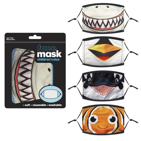 Aquatic Animals, Face Mask Child (pack of 4)