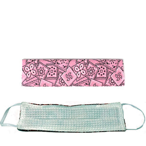Canadian Made Cotton Paisley Mask - Adult, Pink