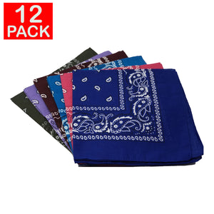 Assorted Bandanas (pack of 12)