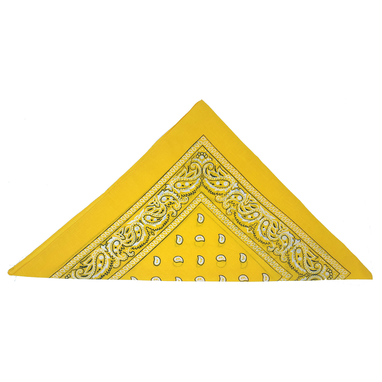 Yellow Paisley Bandana