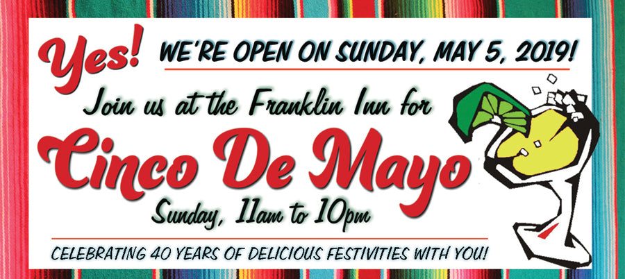 Yes, we are open on Sunday, May 5