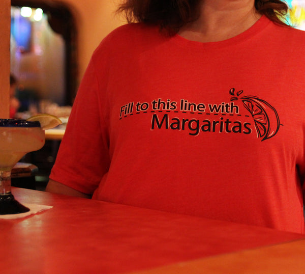 Fill to this Line with Margaritas t-shirt