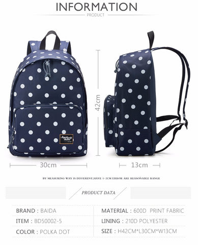 HQ Canvas Polka Dots Softpack