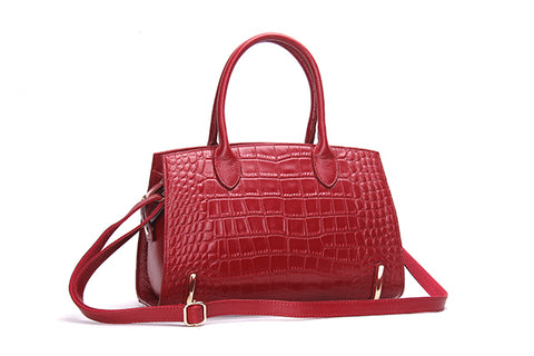Designer Alligator Style Leather Bag